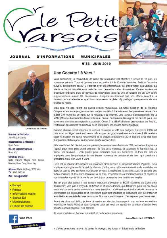 Le Petit Varsois N°36